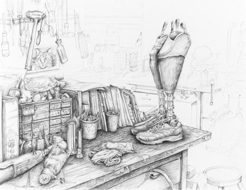 Sarra's workstation - © Kathy Weaver expert witness testimony