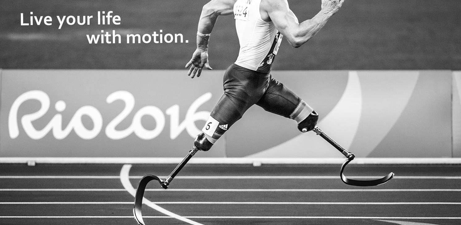 con moto prosthetics amputee runner
